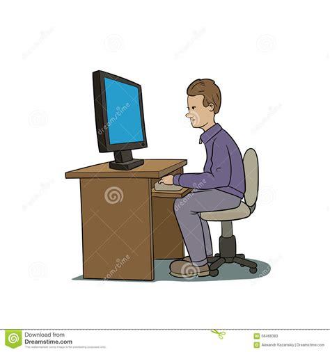 Office Desk Organization Ideas Pc User Stock Vector Image 58468383