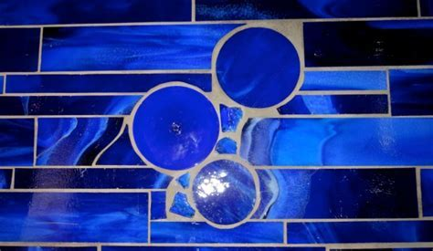 Custom Cobalt Backsplash!   JANE BURKE MURALS