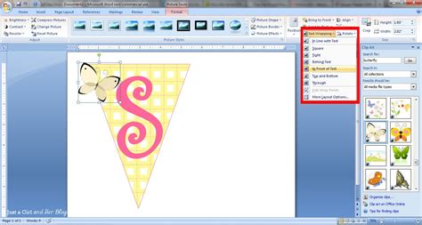 clipart word how to make a bunting banner in word with clip tips