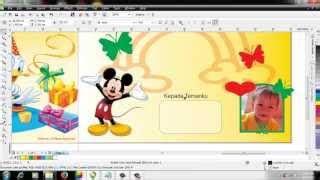 cara membuat undangan dengan corel draw x7 tutorial desain undangan pernikahan dengan corel draw x4 video