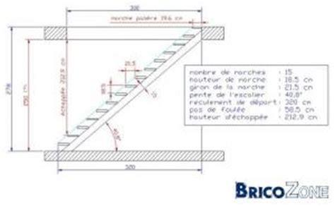 Hauteur Standard Plafond by Calcul D Un Esclier A Limon Central