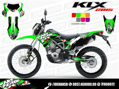 Decal Striping Sticker Klx Bf 009 Glossy new klx bf se 150 cc 2015 collection joehansb decal graphic