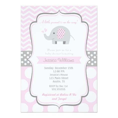 Per Baby Shower Invitation by Elephant Baby Shower Invitations For Zazzle