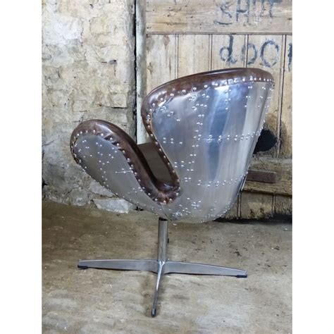 aviator chair aviator chair swivel with brown leather and metal backed