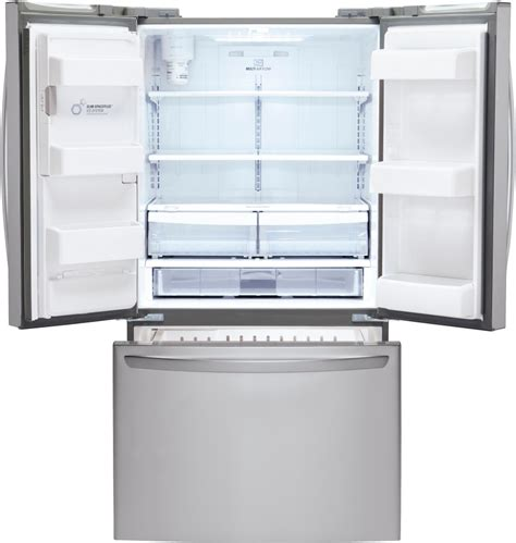 Dispenser And Cool Lg lg lfx25973st 36 inch door refrigerator with 24 7