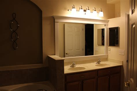 bathroom mirror and lights pinspiration diy framed mirror the gilbertson family