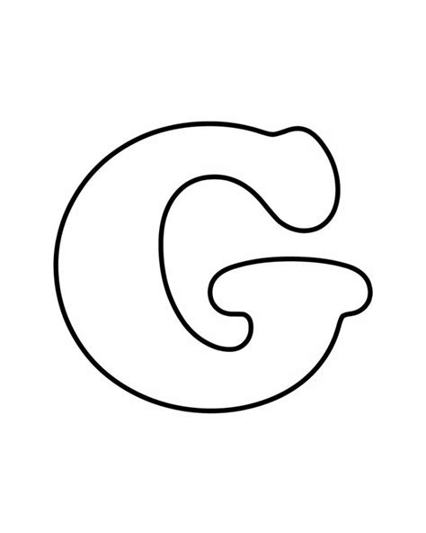 Teach Your Kids Their Abcs The Easy Way With Free Printables Letters For Coloring G Color In Letter Template