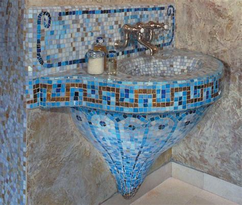 mosaic bathroom sink mosaic bathroom sinks diy pinterest