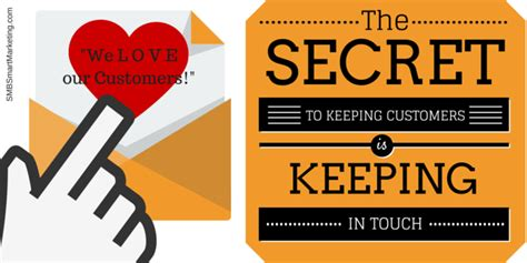 The Secret Keeping the secret to keeping customers is keeping in touch