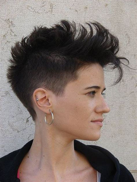 can women with a mahawk hair xut put weave in hair short cute mohawk hairstyles for women find more www