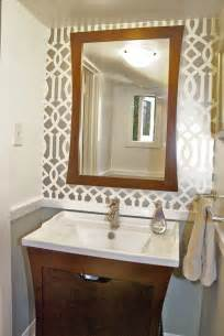 Mirror Trim For Bathroom Mirrors - powder room reveal tiny silver gem jewels at home