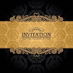 Yellow Black And White Wedding Decorations Abstract Background With Antique Vintage Frame And Banner