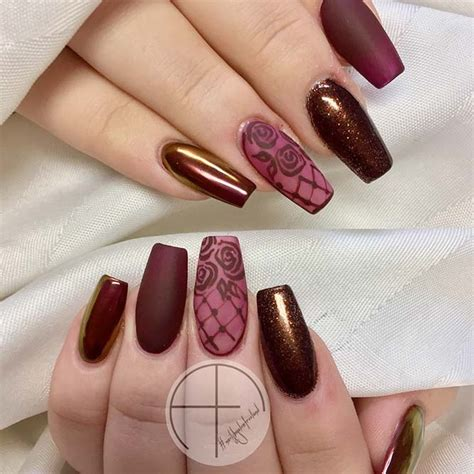 Burgundy Nail Designs 21 stunning burgundy nails designs that will conquer your