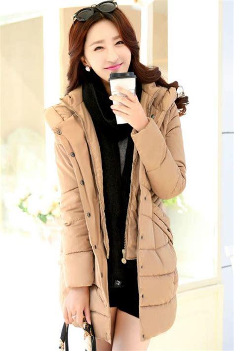 Jaket Wanita Sweater Wanita Hoodie Wanita Baju Dingin Wanita jaket musim dingin korea khaki padded jacket