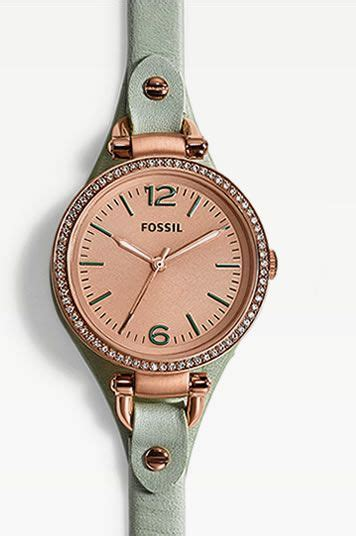 Fossil Fs083 Green Rosegold watches handbags charms clothing fossil this gold and mint