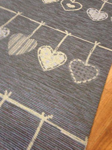 tappeti country tappeto cucina 53 x 300 shabby chic grigio cuori cuori