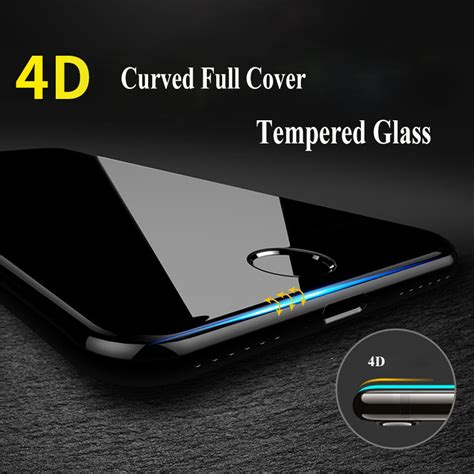 4d Iphone 6 4 7 Inch Anti Tempered Real Glass Screen Black 906041 4d 9h curved edge cover tempered glass for iphone 7 6 s 6s plus premium screen protector