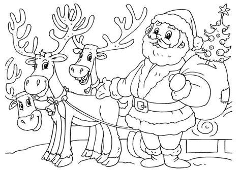 coloring pages of santa claus and sleigh santa and his sleigh coloring pages santa claus and