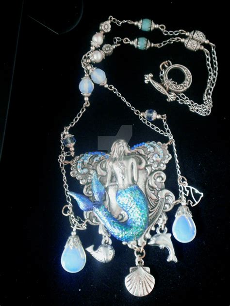 how to make mermaid jewelry undine mermaid necklace by kiatali on deviantart
