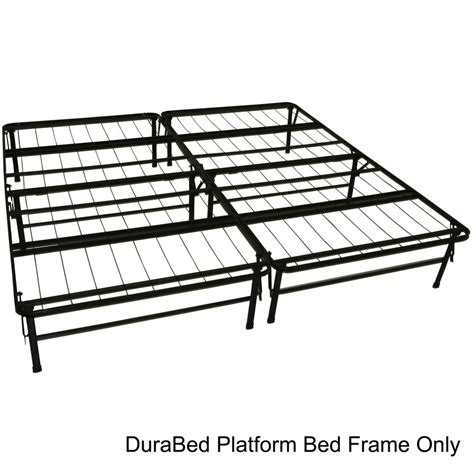durabed king size heavy duty steel foundation frame in