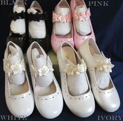 g312 flower dress shoes ivory white pink black