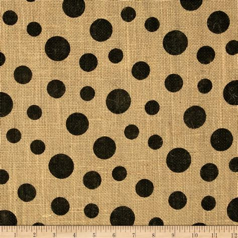 printed upholstery fabric printed burlap scattered dots discount designer fabric
