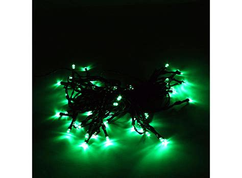 led solar powered xmas garden deco light string green 50