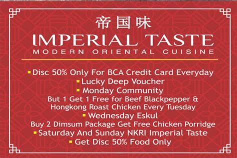bca everyday card spbu imperial taste on august 2017 the sunan hotel solo