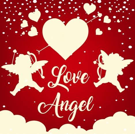 design banner valentine valentine banner angels hearts icons silhouette design