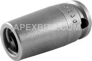 apex 830 5 16 hex insert bit holder 3 8 square drive
