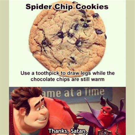 Nope Still Chemistrycom Advert 2 by Spider Chip Cookies Use A Toothpick To Draw Legs While The