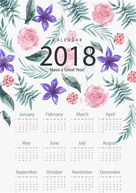 flower design kalender 30 hi res free printable calendars for 2018 mashtrelo