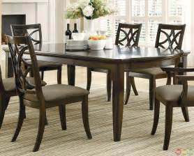meredith contemporary 7 piece dining room table and chairs set espresso finish