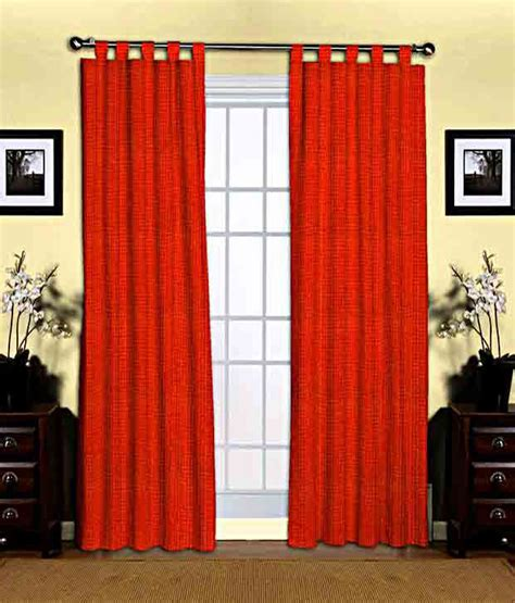 tab top red curtains brand skipper red textured tab top curtain buy brand