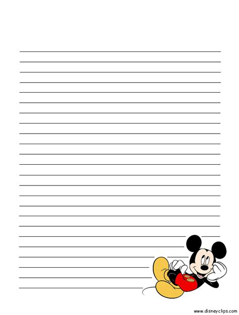 printable disney stationary mickey mouse and friends printables disney s world of