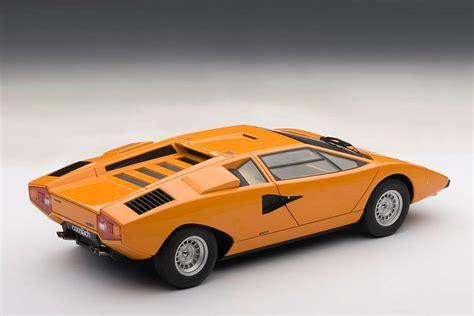 Lamborghini Countach Orange Autoart Lamborghini Countach Lp400 Orange 74647 In 1