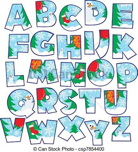 decorative christmas letters decorative alphabet letters clip 66