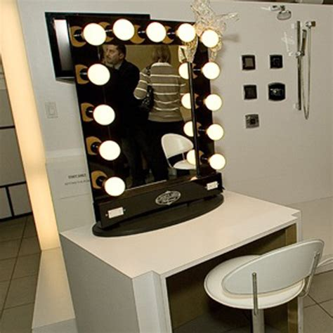 vanity with lighted mirror and bench vanity mirror with lights broadway lighted table top