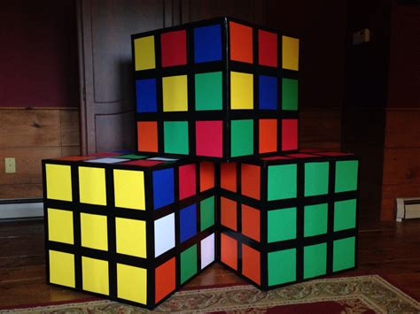 cube decorations 80s party decor easy to make rubiks cubes use a square