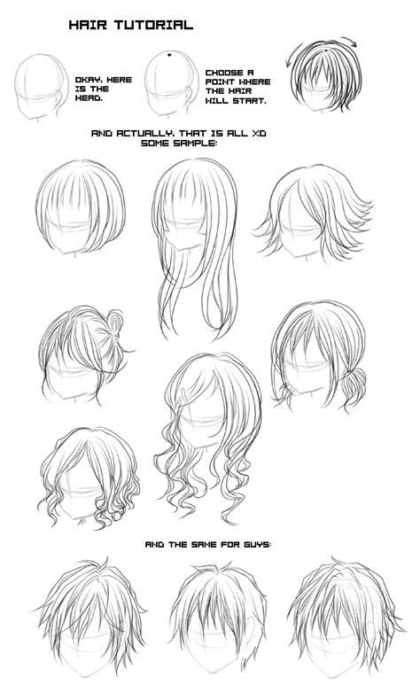 anime hairstyles tutorial hair tutorial by fuugen on deviantart