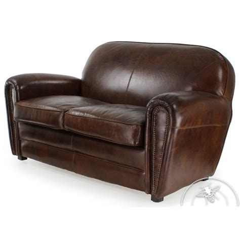 canape ebay canap 233 cuir marron vintage havane ebay