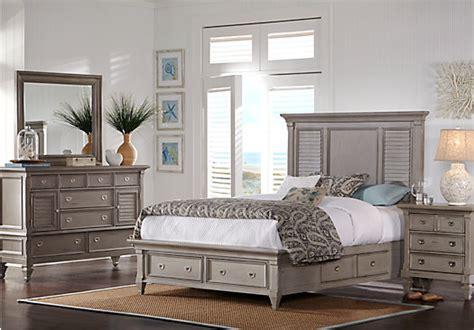 belmar gray  pc queen panel bedroom  storage traditional
