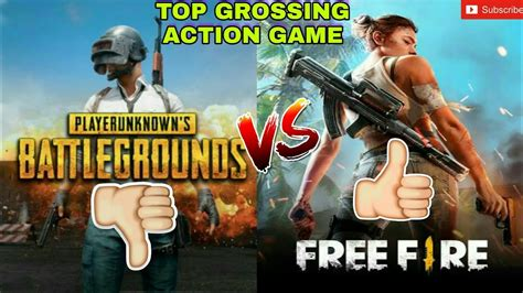 pubg   fire top grossing action game  play store