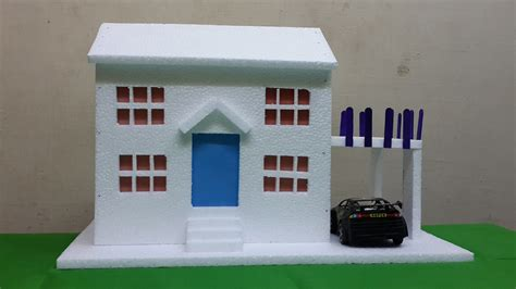 model houses to build how to make thermocol bungalow house model school project