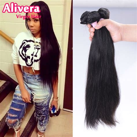 24in hair 8 42 inch 3pcs lot 10a brazilian virgin hair straight