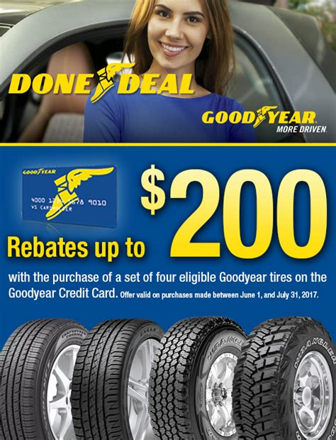 goodyear tire rebate goodyear rebate kost tire and auto tires and