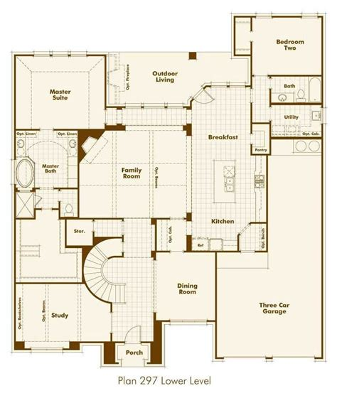 blueprints for new homes highland homes floor plans awesome new home plan 297 in prosper tx new home plans design