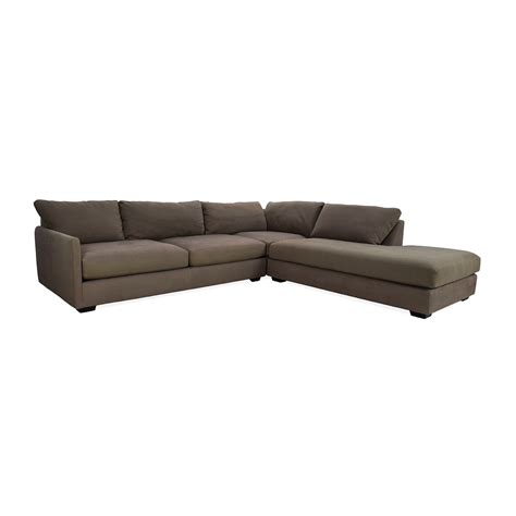 crate and barrel sectional sofas 82 off crate and barrel crate barrel domino sectional