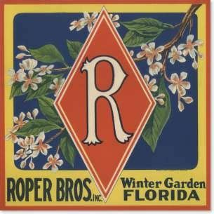 Bros Label Pin Tuspin 2 In 1 Kalung Kode Okto 20d roper bros inc winter garden fl florida citrus labels winter garden and