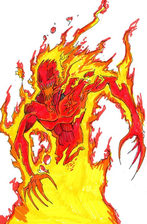 symbiote human torch by hulkling on deviantart